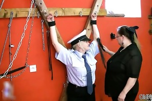 hot aged police tempted by prisoner part4