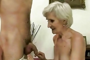 sexy granny enjoys sex with a guy