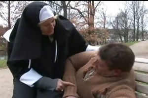 nun gave a homeless a hard blow
