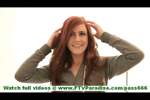 elle breathtaking non-professional redhead with