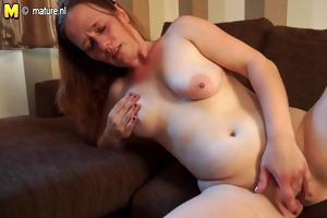 slutty housewife getting juicy on her bed