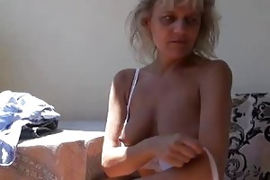 wicked aged granny masturbating with toy
