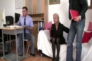 co-owners group-sex hawt older lady