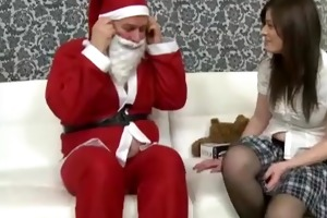 old chunky santa bonks a legal age teenager angel