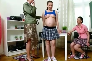preggo student and her friend receive taught