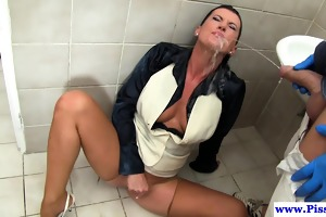 urinate drinking d like to fuck playing with cum