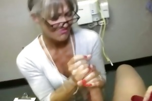 granny receives spunk flow from fortunate chap