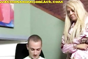 hot blonde mommys a darksome weenie sucker