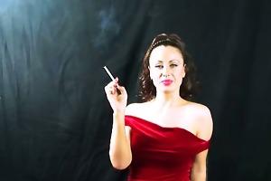 pervert honey in vigorous smoking older