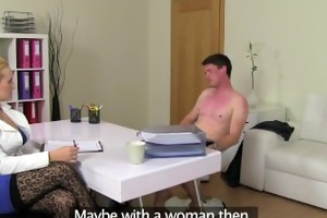 femaleagent. breasty blond agent acquires her st