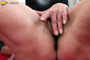slender old granny with hirsute hungry pussy