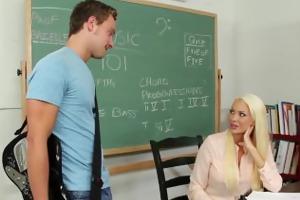 blond teacher summer brielle fuck in classroom