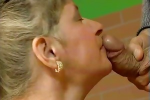 obese old older wife can engulfing large