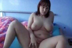 chunky dilettante wife toys, sucks and copulates