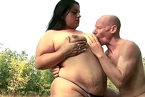 fatty chick wants to fuck granpa with his biggest