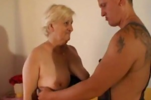 this granny is chubby and lewd