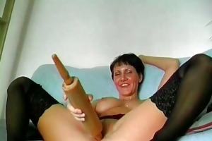 perverted short haired mama is insane as she is