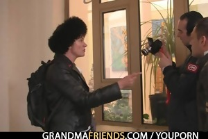 naughty granny acquires lured into some