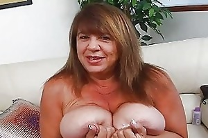 aged momma with supplementary biggest bosom