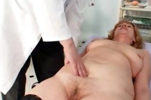 redhead indecent muff stretching in gyn clinic