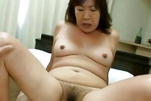michiko okawa japan granny riding on a juvenile