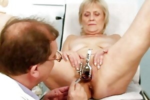 filthy golden-haired granny acquires her bawdy