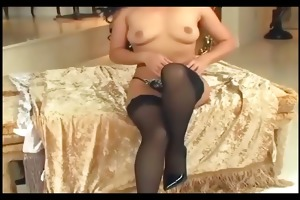 small asian drilled in nylons and stilettos