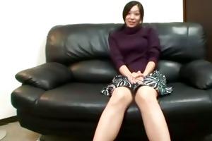 horny asian mature is teasing camera