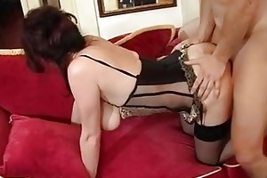 older mama male jizz flow after agonorgasmos by