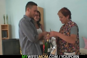 he is receives enticed by his gfs old mom