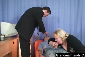 fat granny drilled by chaps