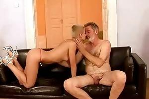 grand-dad fucks his youthful girlfriend