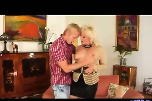 blond mother i with large bazookas receives