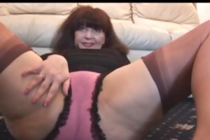 breasty aged with bushy snatch teases