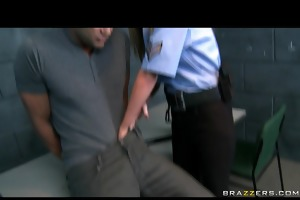 hawt large tit blonde cop is screwed hard by
