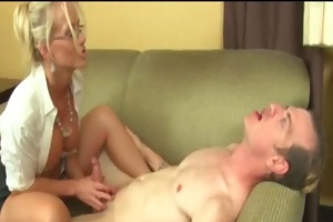 breasty golden-haired d like to fuck gives a