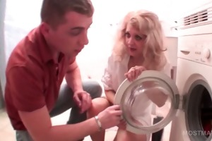 blond mature receives twat fingered whilst