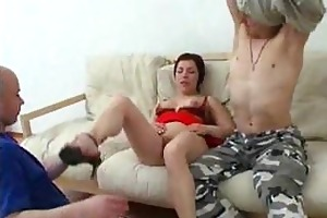 mommy has anal sex with her son and his ally
