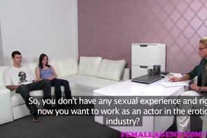 femaleagent girl and the geek try-out for sexy