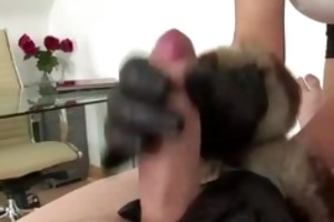 cuckolds wife plays with schlong