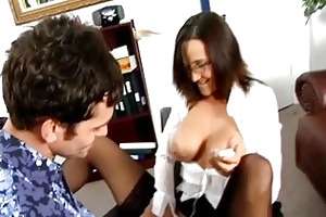 hardcore office enjoyment with milfs in nylons