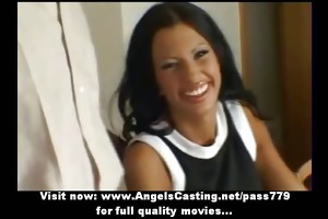 outstanding brunette hair bride talking with a boy