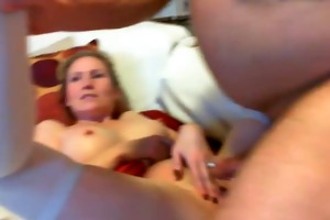 wife with large teats receives slammed hard by
