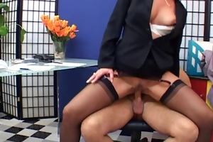 stylish aged secretary screwed