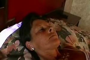 grandmother fingers herself masturbating