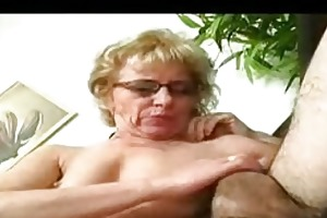 little titted granny in glasses nylons bonks