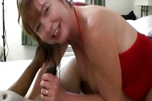 obese redhead d like to fuck plays with one