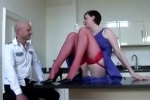 aged lady instructs dilettante about stockings