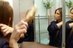 lascivious brunette hair mommy dilettante sex