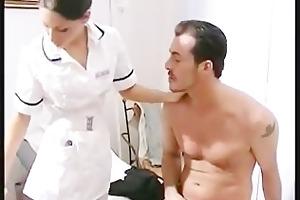 hawt nurse mya diamond in nylons acquires facial
